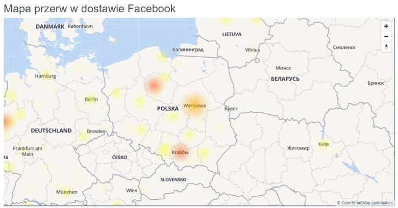 Awaria Facebooka i Instagrama. 20.11.2019. Co się stało? Nie da się zalogować i wczytać strony