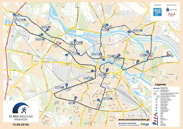 37. PKO Wrocław Maraton w niedzielę. Będą potężne utrudnienia [MARATON WROCŁAW 15.09. ZAMKNIĘTE ULICE, OBJAZDY, ZMIANY W KOMUNIKACJI]