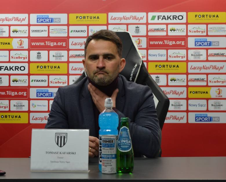Tomasz Kafarski pracuje w Sandecji od czerwca 2018 roku