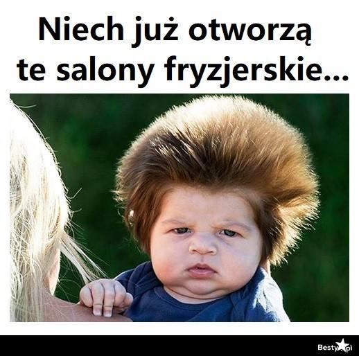 otwarcie salonów fryzjerskich i kosmetycznych kiedy do fryzjera fryzjer memy kwarantanna