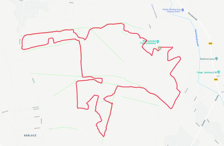 Wieliszewska Trasa Crossowa. Tylko 12,5 km, ale ponad 200 m przewyższeń. Poziom trudności: ***To jedyna taka trasa w okolicach Warszawy - nadaje się