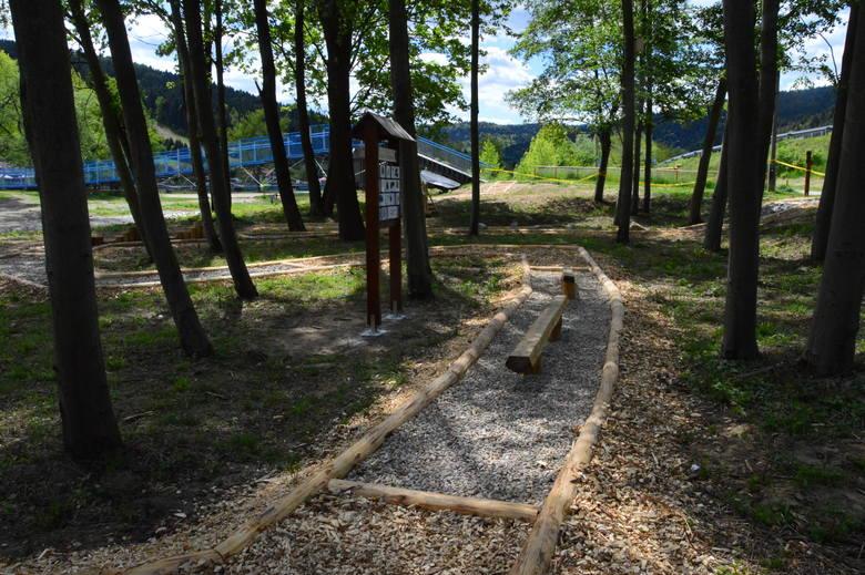 Myślenice. Co nowego na lewym brzegu Raby? Ścieżka sensoryczna, minipark edukacyjny...