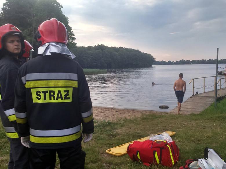 Akcja na jeziorze Trzesiecko. Trwają poszukiwania mężczyzny