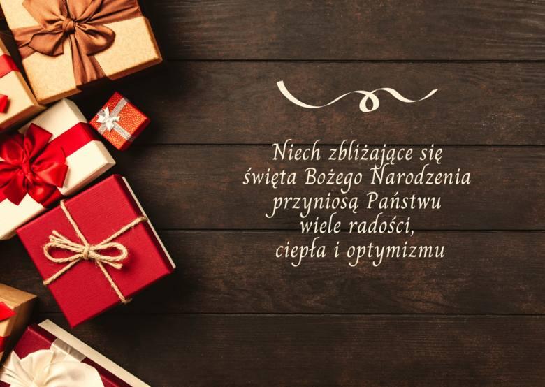 Niech zbliżające się święta Bożego Narodzenia przyniosą Państwu wiele radości, ciepła i optymizmu