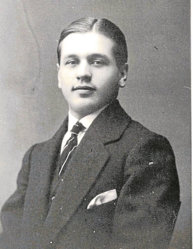 13 lutego 1914, Czesław jeszcze jako gimnazjalista.