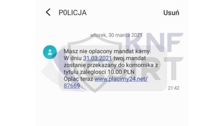 """Wiadomość SMS o zaległym mandacie to oszustwo! Nowa metoda złodziei """"na mandat"""". Policjanci ostrzegają"""