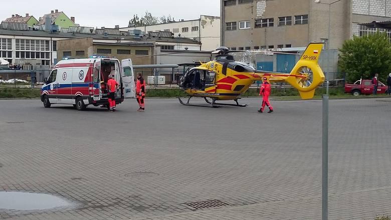 61-latek z Chełmna trafił do szpitala