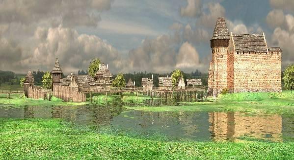 fot. zamek w Liwie