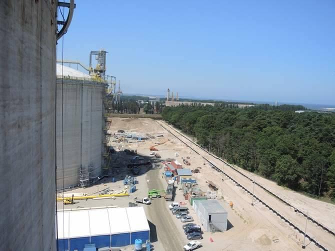 Najciekawsze miejsca na budowie terminalu w Świnoujściu