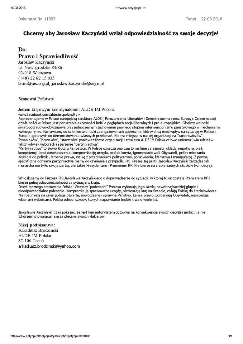 Kaczyński musi przejąć odpowiedzialność [rozmowa]