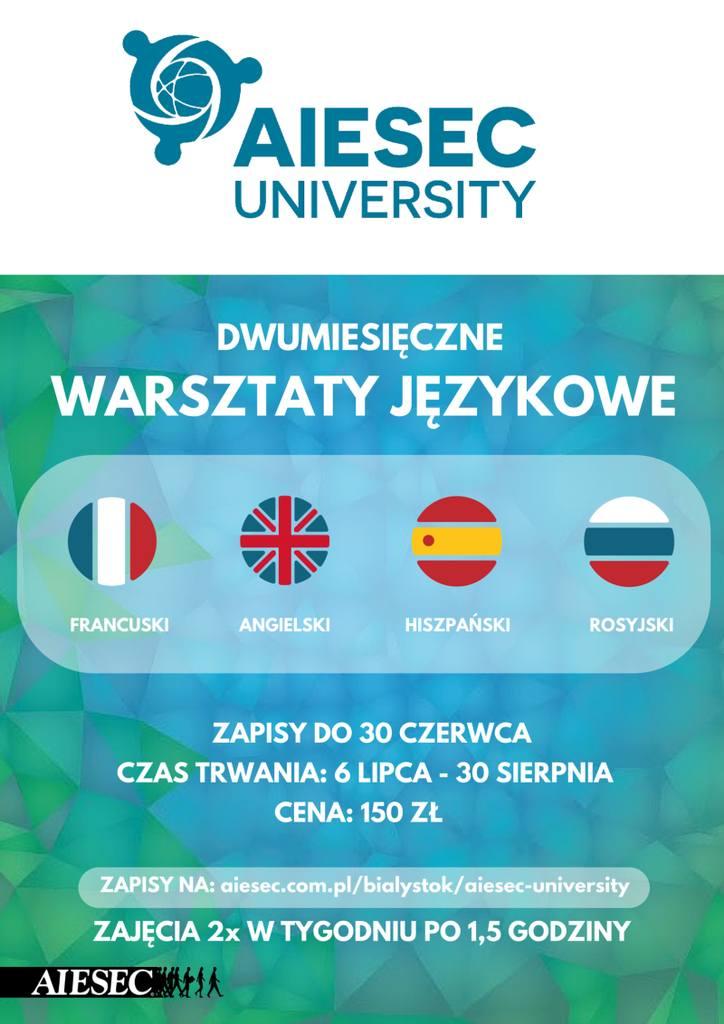 AIESEC University - innowacyjne warsztaty językowe w międzynarodowej atmosferze