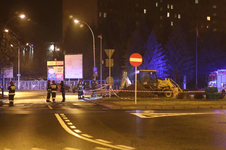W poniedziałek 2 marca w pobliżu galerii Graffica w Rzeszowie ulatniał się gaz. Trwa akcja usuwania awarii