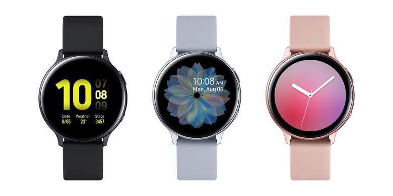Galaxy Watch Active 2 w wersji 40 mm, z aluminiową kopertą
