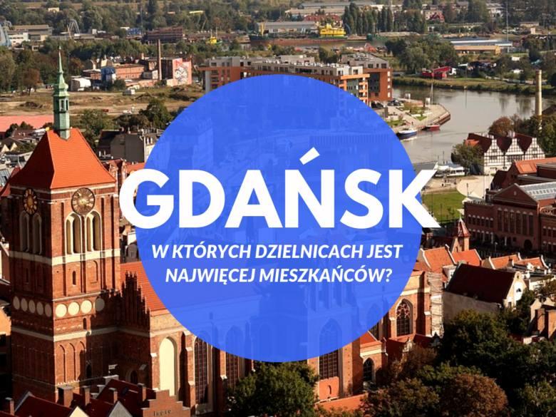 W których dzielnicach Gdańska jest najwięcej mieszkańców?