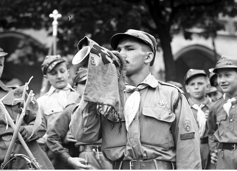 Święto harcerzy w Krakowie, 1936 rok.