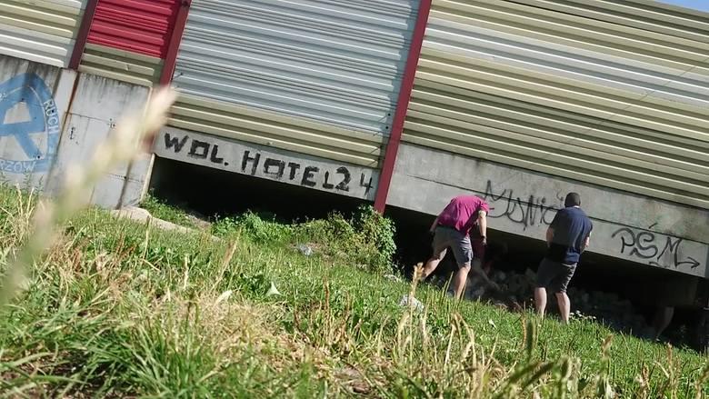 Zatrzymanie bezdomnego w Chorzowie
