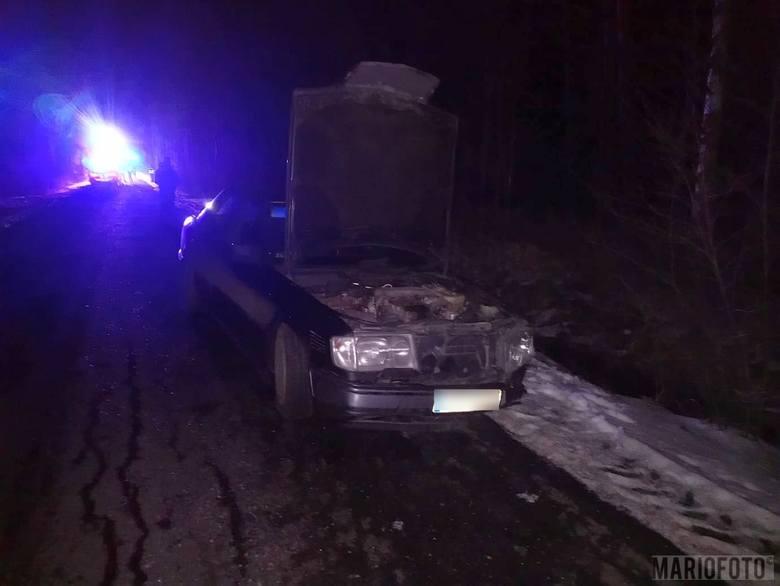 Zderzenie mercedesa z volkswagenem trasie Krasiejów-Kadłub