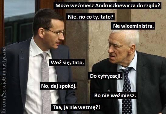 Memy z Adamem Andruszkiewiczem podbijają internet