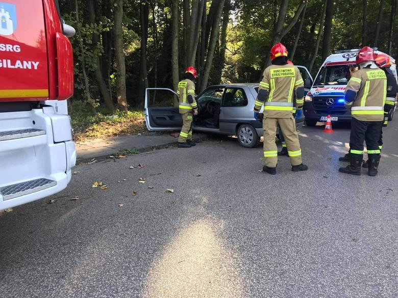 Libertów - pojazd uderzył w drzewo