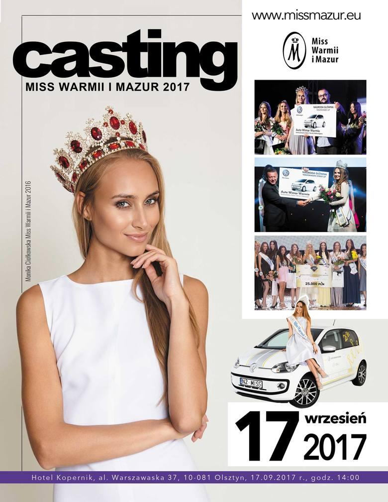Casting na Miss Warmii i Mazur 2017. Najbliższy w niedzielę w Olsztynie