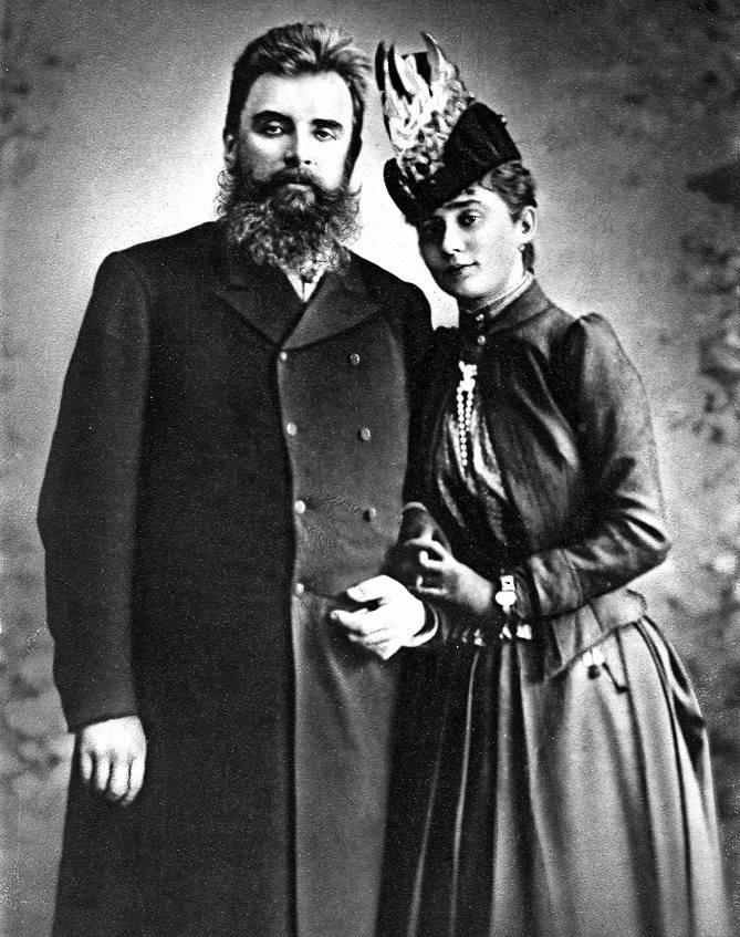Książę Guido z drugą żoną, Katarzyną Slepcow, z którą miał dwóch synów.<br />