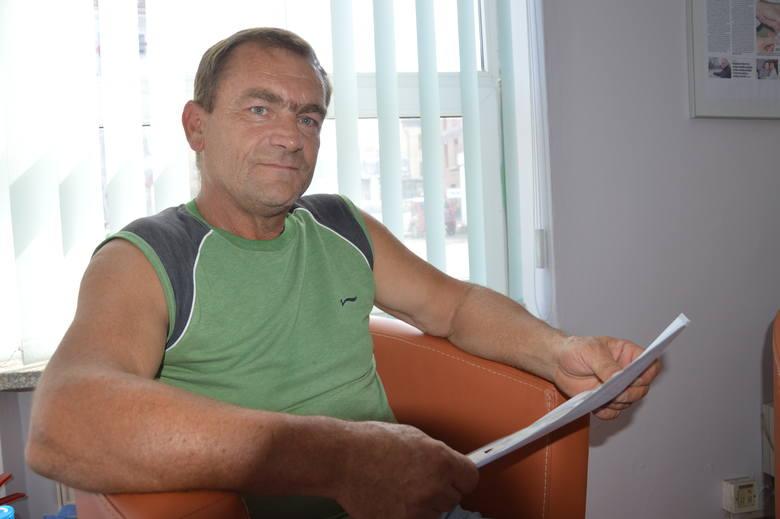 Sylwester Pleciak, przewodniczący zakładowych związków zawodowych w Pekomie od początku walczył o podwyżki.