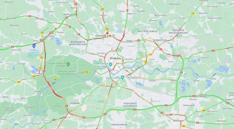 Korki w Krakowie i na obwodnicy Krakowa są dziś szczególnie uciążliwe