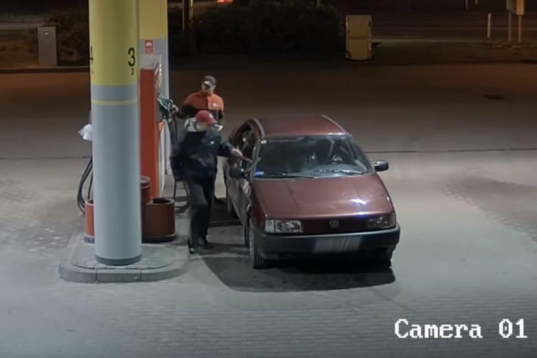 Kradzież paliwa na stacji paliw w Bąkowie.