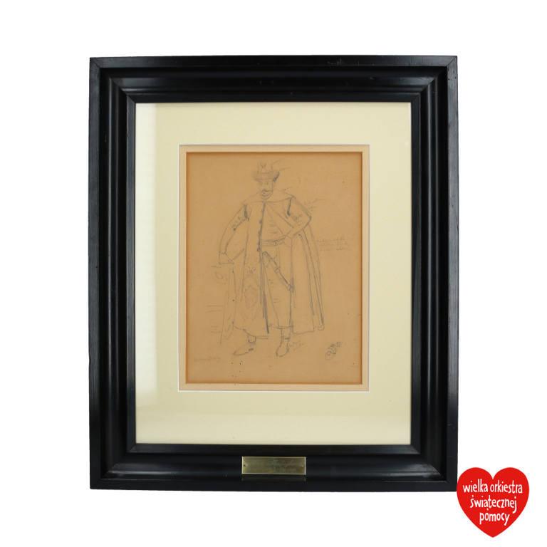 Szkic autorstwa Jana Matejki przedstawiający króla Stefana Batorego.<br /> <br /> Obecna cena: 30 200 zł <br /> <strong><a href=