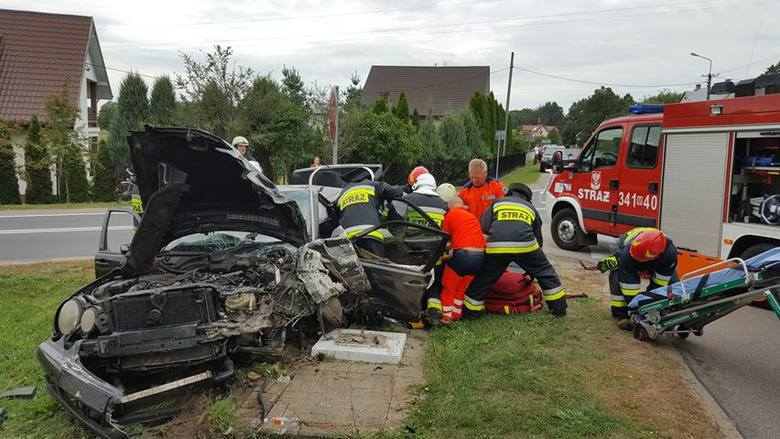 Wypadek w Olszewce, gm. Lelis, 07.09.2019