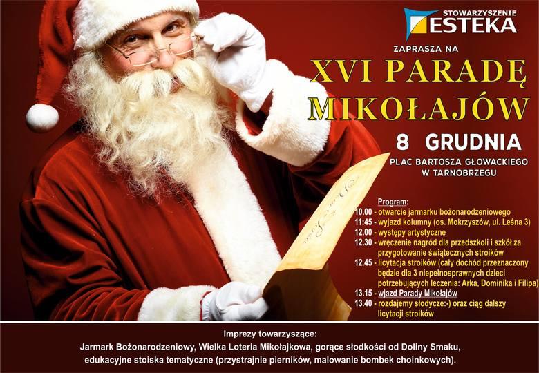 XVI Parada Mikołajów i jarmark bożonarodzeniowy w Tarnobrzegu. Jakie będą atrakcje?