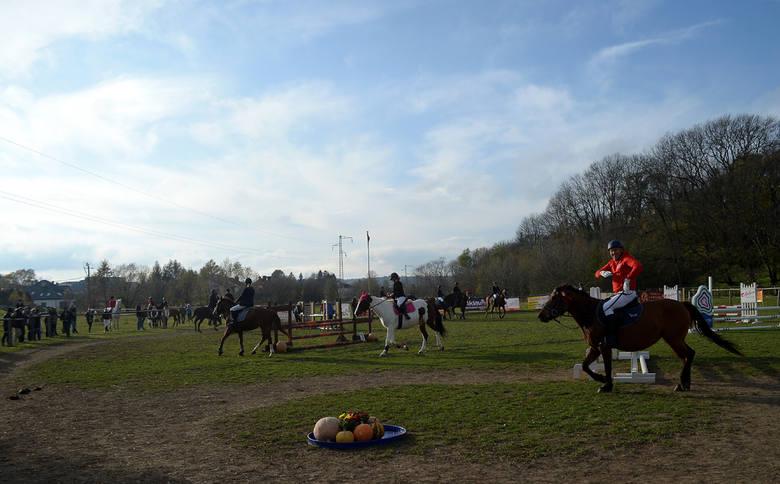 Jasielskie Stowarzyszenie Jeździeckie zorganizowało halloweenowe skakanie [ZDJĘCIA]