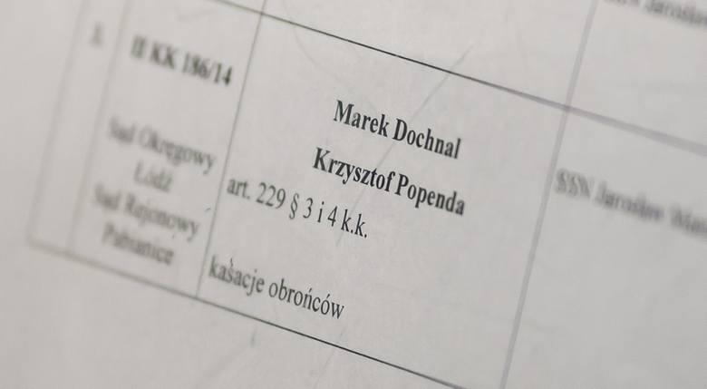 Marek Dochnal nie był obecny na sali sądowej.
