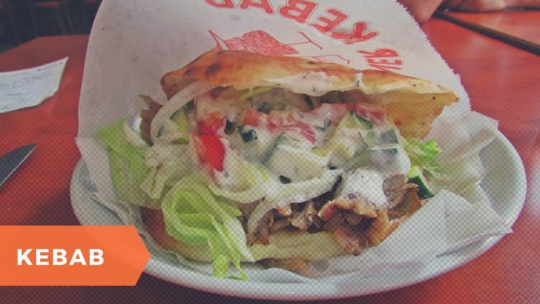 """W Polsce pod nazwą kebab kryje się zazwyczaj döner kebap (w jęz. tureckim oznacza to """"obracające się pieczone mięso"""". W kebabie znajdziemy mięso - oryginalnie"""