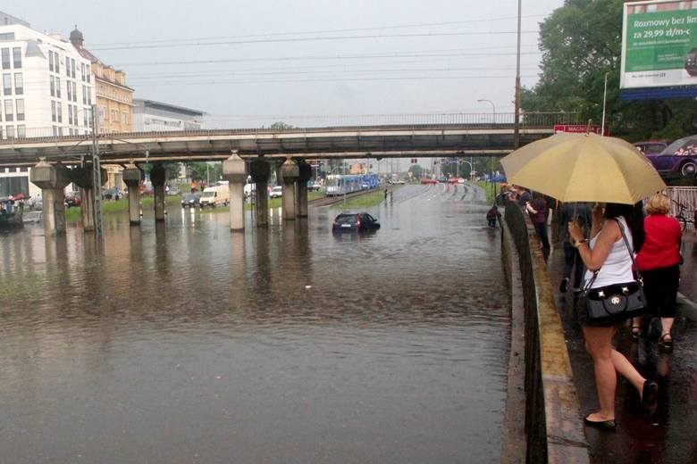 Ulica Legnicka pod wiaduktem kolejowym, w pobliżu ulicy Niedźwiedziej. Jak widać na zdjęciu z 2014 roku - tutaj nic się nie zmienia od lat.Po każdym