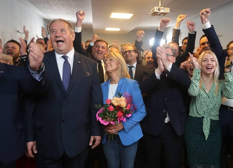 Wybory do Parlamentu Europejskiego 2019. Szczecin: Wieczór wyborczy w PiS. Był wybuch radości