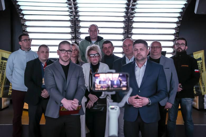 """Konferencja """"Strajku Przedsiębiorców"""" w gdańskim klubie """"Wolność"""", 25.04.2021"""