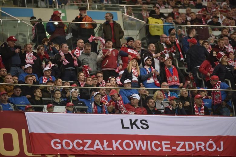 Kibice ze Śląska na meczu Polska - Słowenia