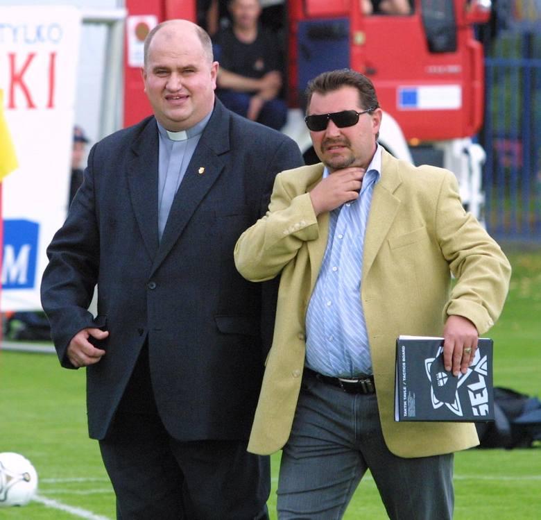 Dyrektor sportowy Pogoni Bogusław Baniak (z prawej) na wiosnę porzuci garnitur na rzecz dresu i wróci do funkcji szkoleniowca.