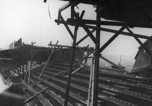 Stadion Cracovii w sierpniu 1931 r., zniszczony po wichurze