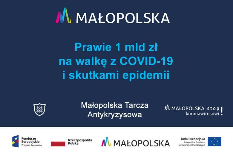 Małopolska Tarcza Antykryzysowa, czyli miliard złotych na walkę z pandemią i jej skutkami