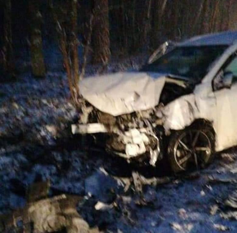 Wypadek w miejscowości Trzciniec w gminie Białe Błota.