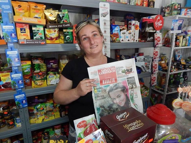 Maria Łukomska prowadzi sklep w Mozowie