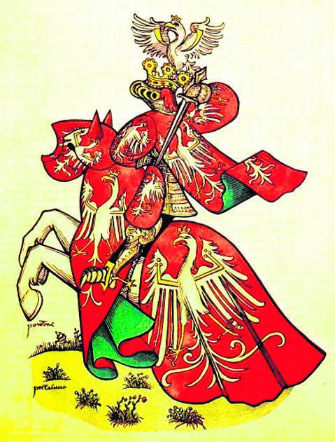 Król Polski w stroju turniejowym z 1435 roku<br />