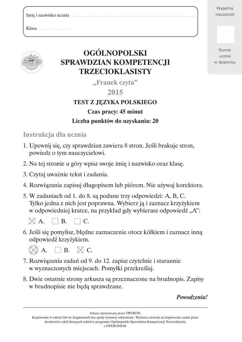 testy multiselect z odpowiedziami pdf