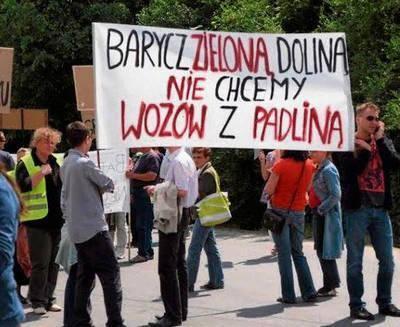 Pikieta w maju w 2012 roku. Mieszkańcy znów zapowiadają taki protest. FOT. ARCHIWUM