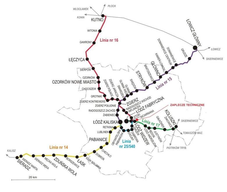 Nowe przystanki dla Łódzkiej Kolei Aglomeracyjnej [MAPA]