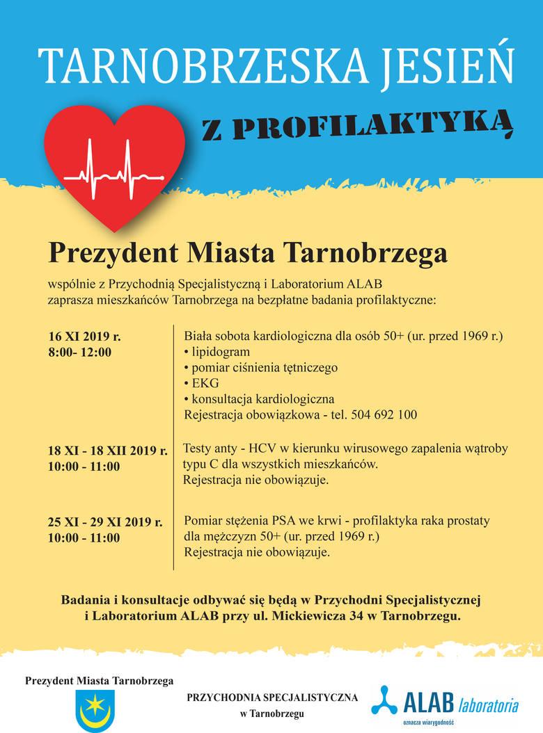 Bezpłatne badania w Tarnobrzegu. Zbadaj układ krążenia, wątrobę i prostatę
