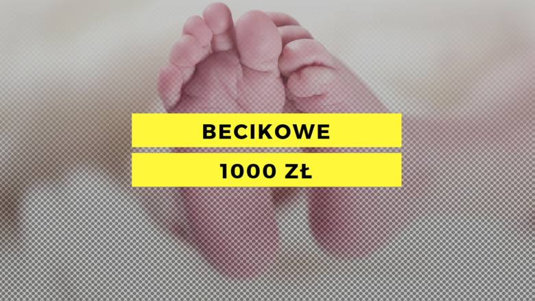 Ile? 1000 zł jednorazowoDla kogo? Dla rodziców nowo narodzonego dzieckaWarunki?- dochód na osobę w rodzinie max. 1922 zł netto- wniosek złożony do 12