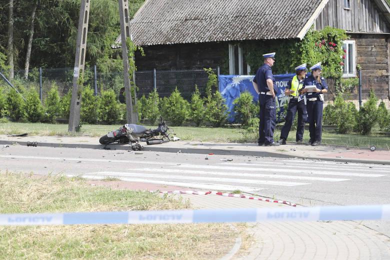 W wypadku zginął kierowca skutera.